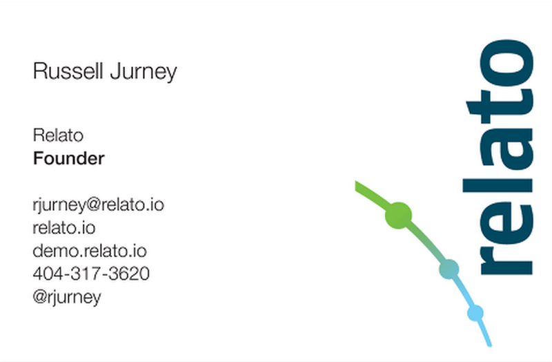 Russell Jurney business card
